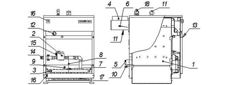 Схема котла Хопер-100 с Honeywell