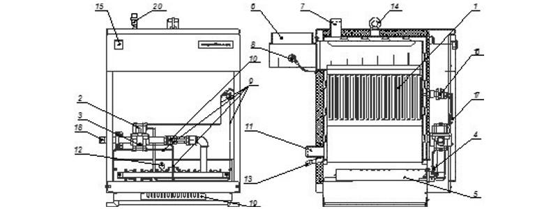 Схема котла Хопер-100 с РГУ