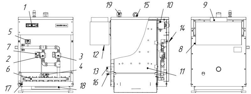Схема котла Хопер-100А с КСУБ-20.10
