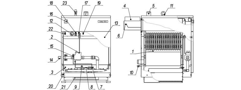 Схема котла Хопер-80А с Elettrosit